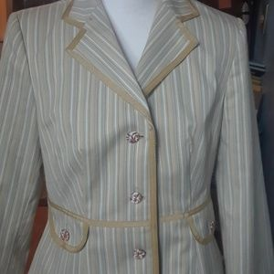 Dresses & Skirts - Pastel striped jacket/skirt suit, size 12